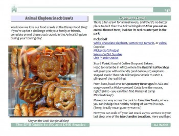 Sample Page from the DFB Guide to Animal Kingdom and Hollywood Studios Snacks