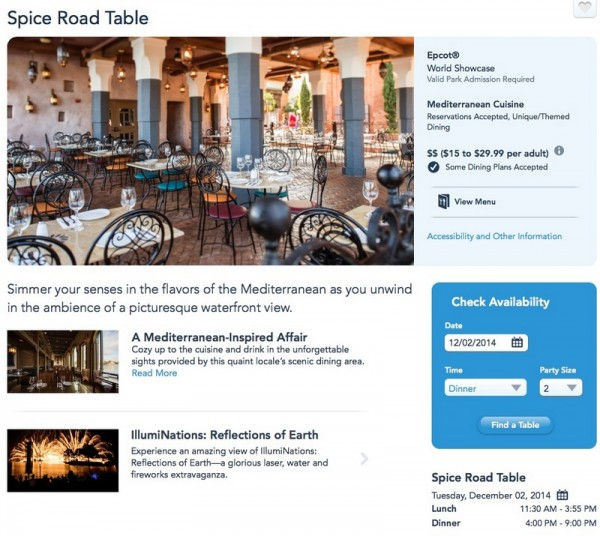 Make a reservation at Spice Road Table