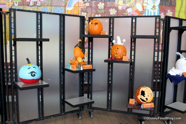Contemporary Resort Cast Member Pumpkin Carving display