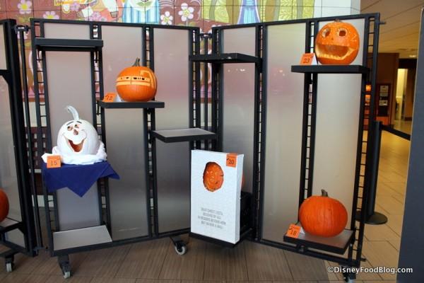 Contemporary Resort Cast Member Pumpkin Carving display
