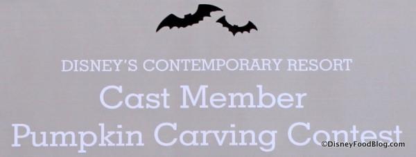 Contemporary Resort Cast Member Pumpkin Carving 2014