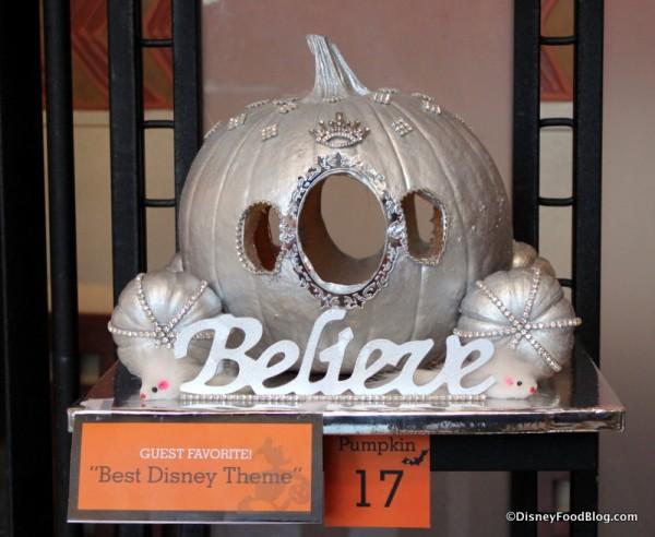 """""""Believe"""" pumpkin"""