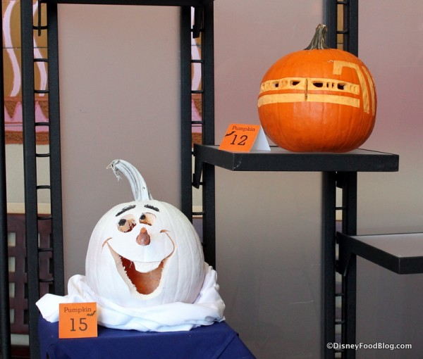 Monorail and Olaf pumpkins