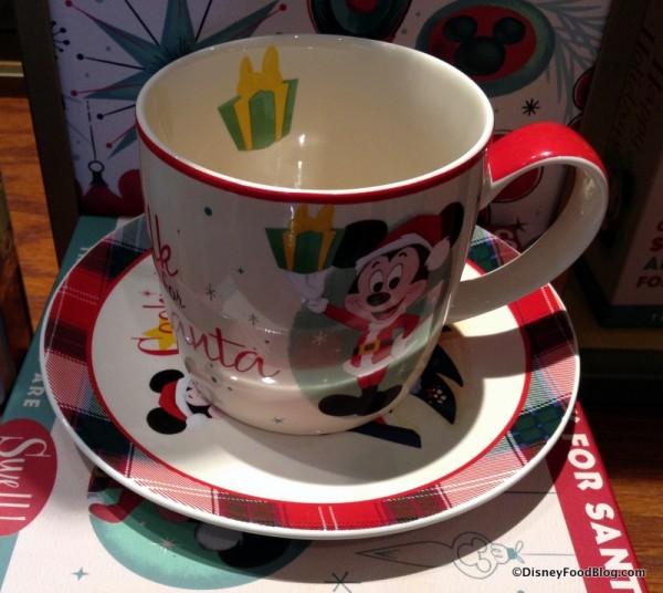 Milk and Cookies plate and mug set