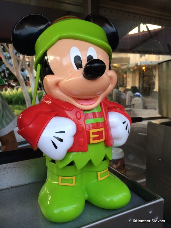 A close up of a large Mickey Mouse