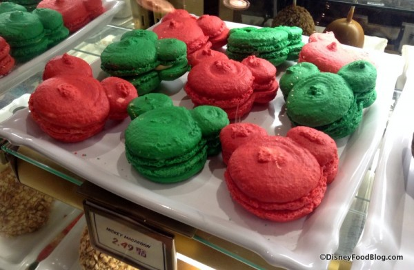 Red and Green Mickey Macarons