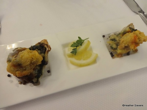 """""""Lobster Rockefeller"""" with Crispy Oysters and Hollandaise"""