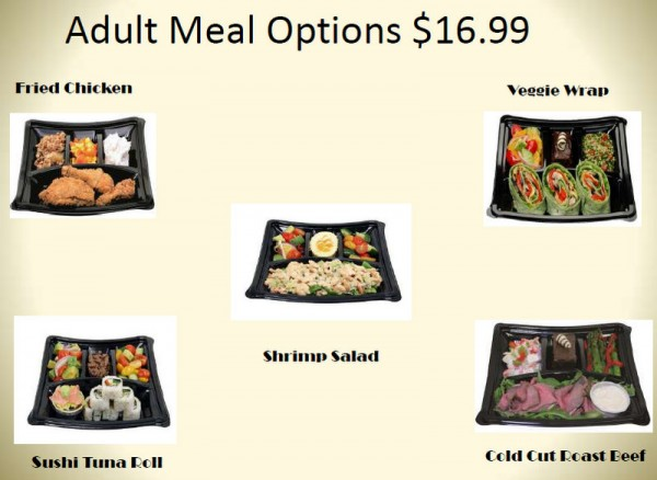 Adult Meal Options