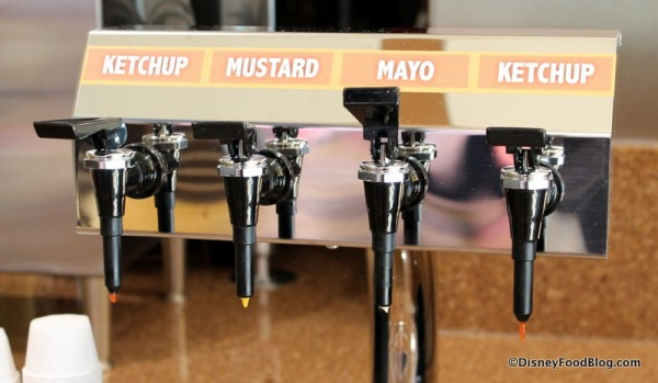 Condiments at beverage station