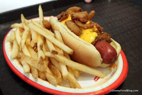 Create-Your-Own Hot Dog and fries on the side