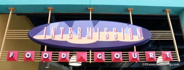 Intermission Food Court sign