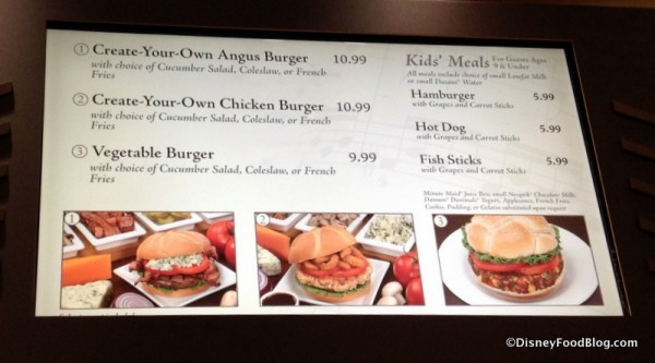 Grill Shop menu