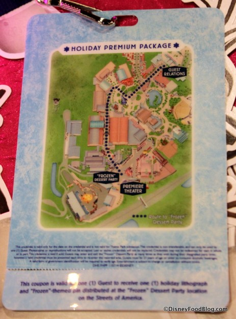 Back of Credential with Map