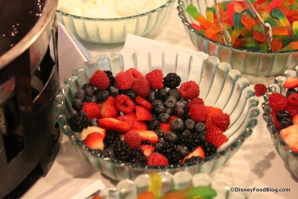Berries for Fondue Brownie