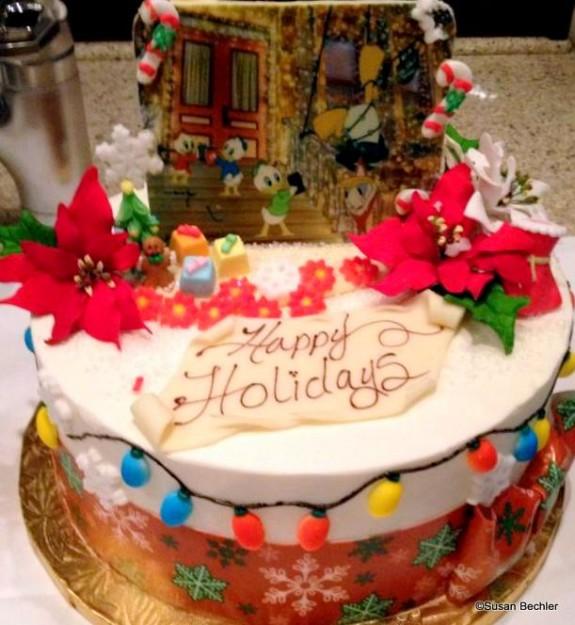 Disney Christmas Cake