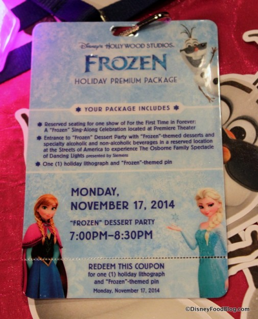 Frozen Dessert Party Credential