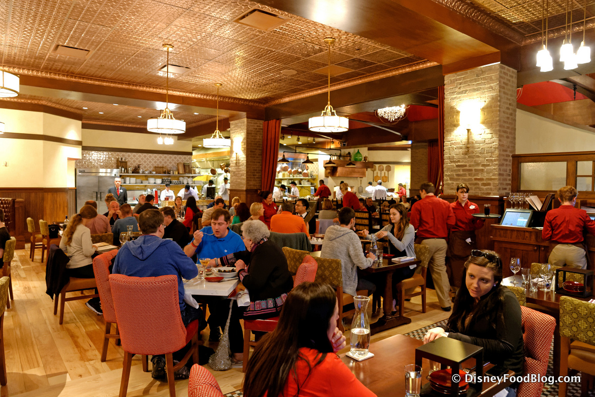 Dinner Review The New Trattoria Al Forno At Disney World