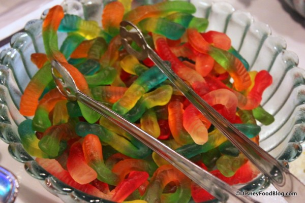 Gummy Worms for Fondue Brownie