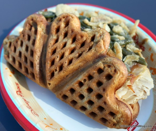 Holiday Waffle from Epcot's Refreshment Port