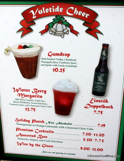 Holiday Drinks at Disney's Hollywood Studios