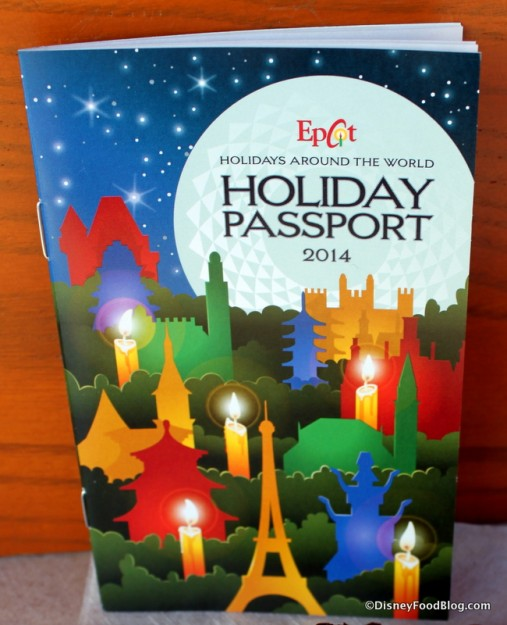 Holidays Around the World at Epcot Passport