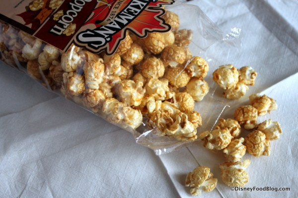 Jakeman's Maple Popcorn Out of the Bag Epcot Canada Pavilion