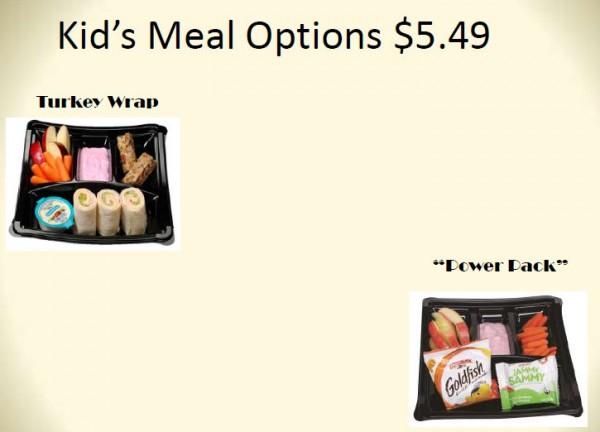 Kid Meal Options