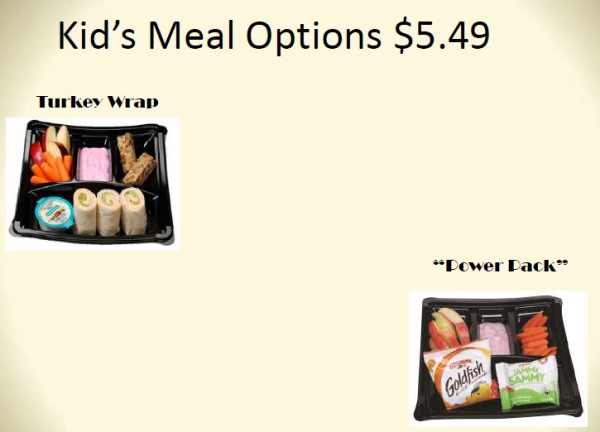 Kid Meal Options