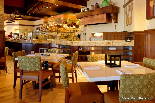 Kitchen from the Cucina, the Restaurant's First Dining Room