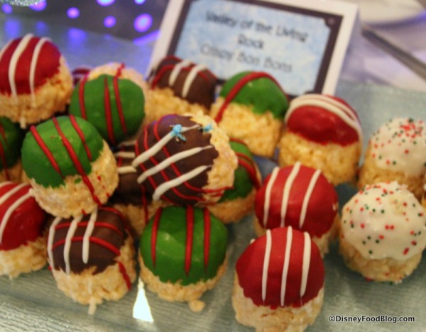 Holiday Rice Krispie Treat Balls at last year's Osborne Lights Dessert Party