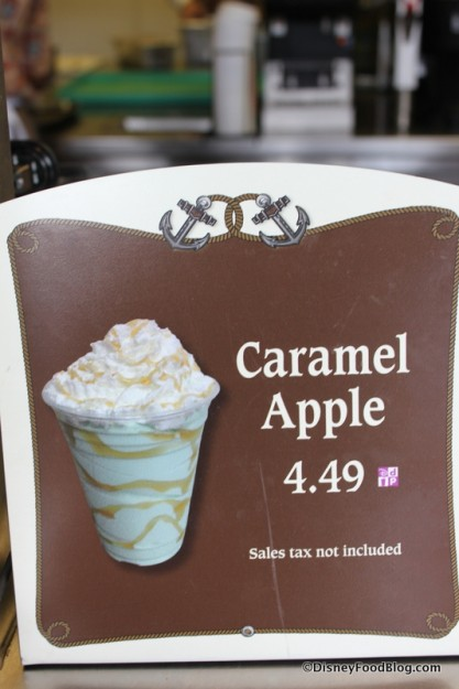 Caramel Apple Seasonal Shake sign