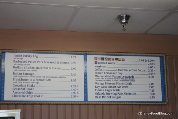 Min & Bill's full menu