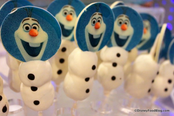 Olaf Carrot and Chocolate Cake Pop