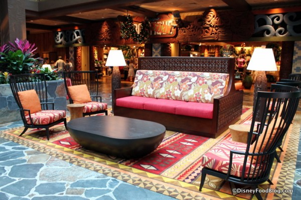 Seating in the lobby