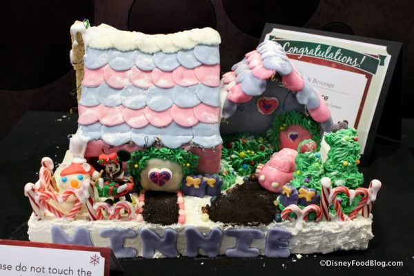 Minnie Mouse Gingerbread House
