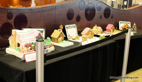 Gingerbread House Contest Display