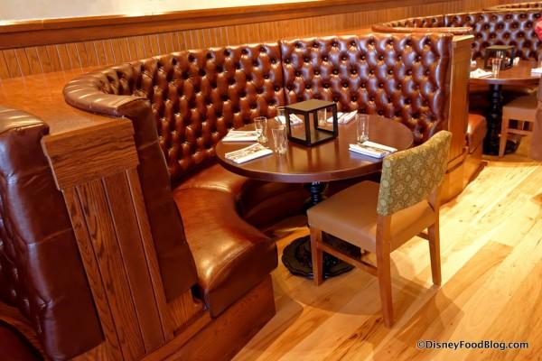 Round Banquette in the Salotto