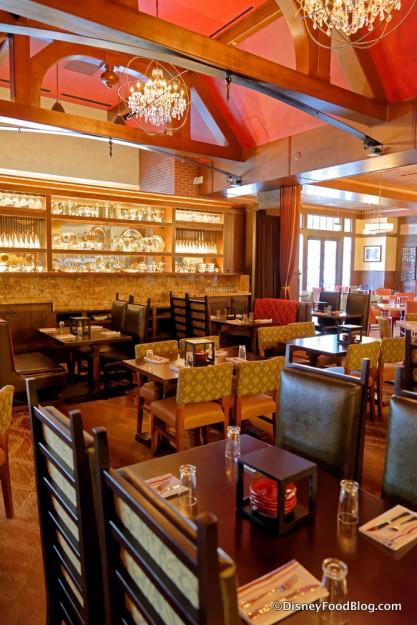 Seating in the Sala da Pranzo looking back to the Cucina