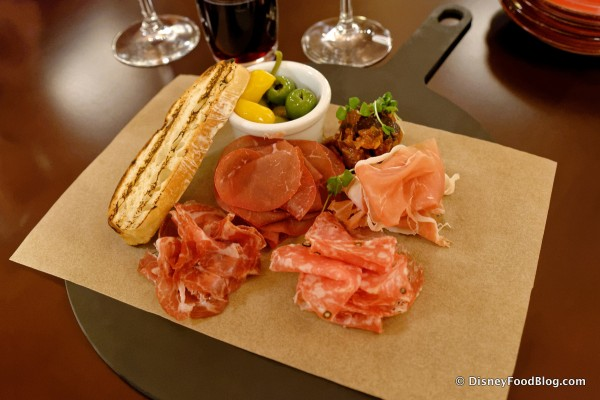 Thin Sliced Italian Cured Meats with House-Pickled Peppers, Olives, and Caponata