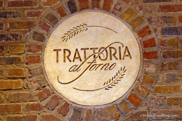 Trattoria Stone Medallion at the Hostess Station