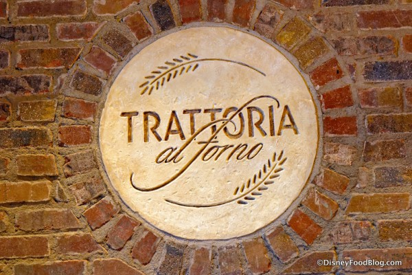 Trattoria Sign at the Hostess Station