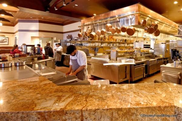 Wide Shot of the Trattoria Kitchen