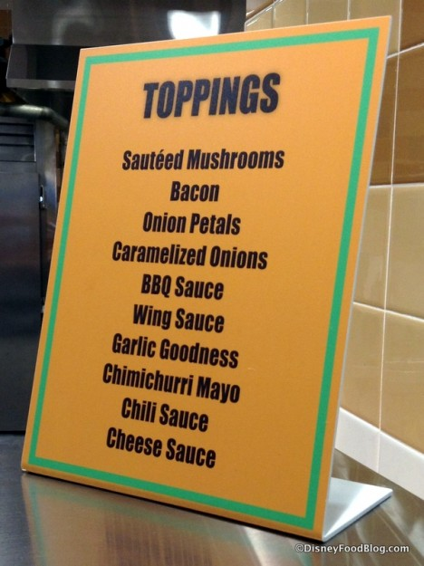 Create Your Own topping options