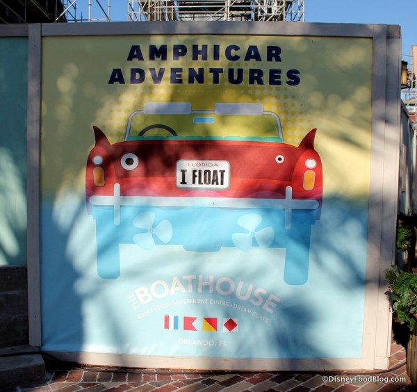 Amphicar sign for The Boathouse