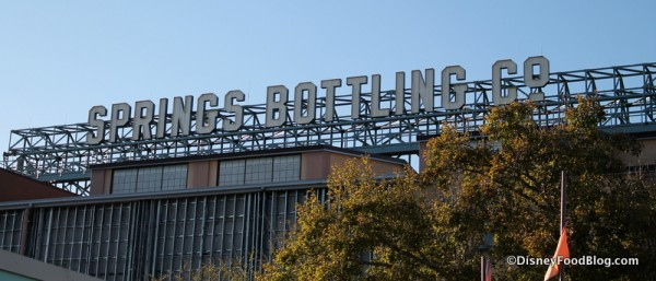 Springs Bottling Co. sign