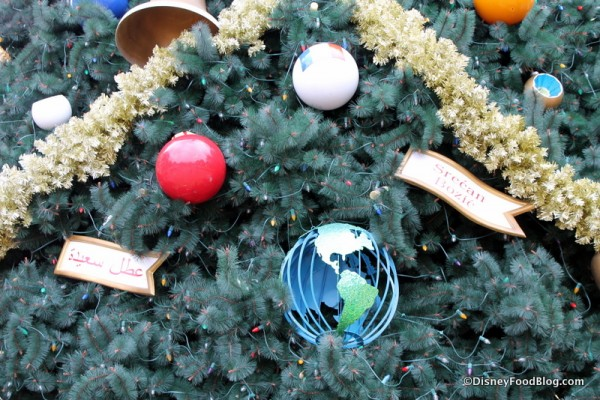 Epcot Christmas tree ornaments