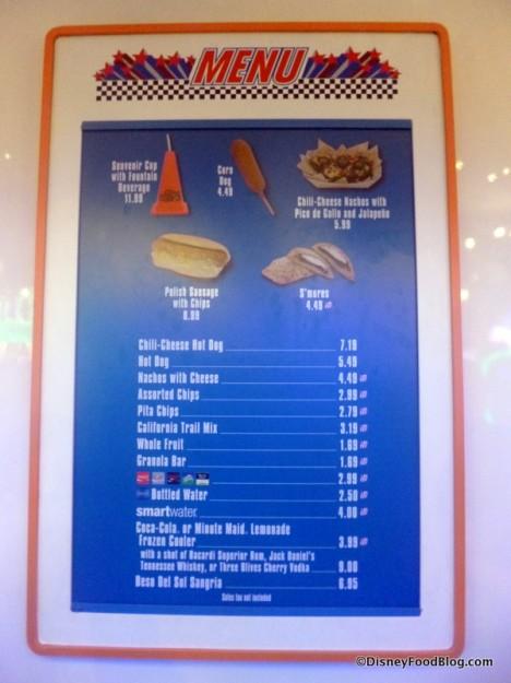 Herbie's Drive-in menu