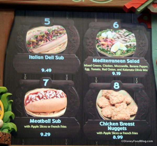 Pinocchio's Village Haus menu