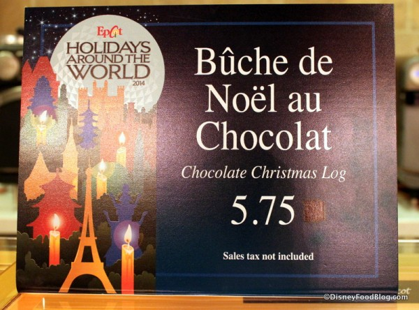 Bûche de Noël at Les Halles Boulangerie Patisserie -- Part of Holidays Around the World
