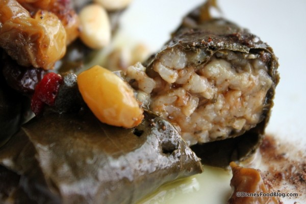 Stuffed Grape Leaves inside